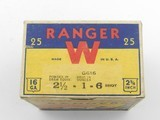 Collectible Ammo: One Full Vintage Box of Winchester Ranger 16 Gauge Shotshells in the Pointer Box. 6473 - 2 of 12