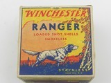 Collectible Ammo: One Full Vintage Box of Winchester Ranger 16 Gauge Shotshells in the Pointer Box. 6473 - 6 of 12