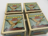 Collectible Ammo: Four U.S. Property Marked Boxes of Federal Monark, 12 Gauge, T121, Mallard Box, Excellent 6814 - 8 of 12