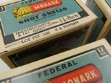 Collectible Ammo: Four U.S. Property Marked Boxes of Federal Monark, 12 Gauge, T121, Mallard Box, Excellent 6814 - 4 of 12