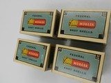 Collectible Ammo: Four U.S. Property Marked Boxes of Federal Monark, 12 Gauge, T121, Mallard Box, Excellent 6814 - 9 of 12