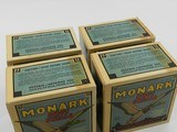 Collectible Ammo: Four U.S. Property Marked Boxes of Federal Monark, 12 Gauge, T121, Mallard Box, Excellent 6814 - 6 of 12