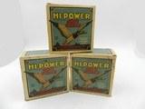 Collectible Ammo: Three Boxes of Federal Hi-Power 16 Gauge Shotshells in the Mallard Box - 1 of 12