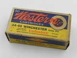 Collectible Ammo: Western .44-40 Winchester 200 grain Soft Point Bullet, Bullseye Box, Catalog No. 4440 - 1 of 9