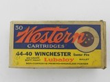Collectible Ammo: Western .44-40 Winchester 200 grain Soft Point Bullet, Bullseye Box, Catalog No. 4440 - 4 of 9