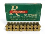 collectible ammo: full box remington 348 winchester hi-speed core-lokt center fire