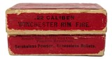 Collectible Ammo: Full Box Winchester Repeating Arms Co. .22 W. R. F. Caliber Smokeless Cartridges - 3 of 13