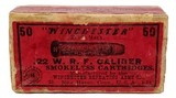 Collectible Ammo: Full Box Winchester Repeating Arms Co. .22 W. R. F. Caliber Smokeless Cartridges - 2 of 13