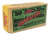 Collectible Ammo: Full Box Winchester Repeating Arms Co. Smokeless Rifle Cartridges .22 Cal Short - 1 of 9