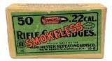 Collectible Ammo: Full Box Winchester Repeating Arms Co. Smokeless Rifle Cartridges .22 Cal Short - 7 of 9