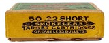 Collectible Ammo: Full Box Winchester Repeating Arms Co. Smokeless Rifle Cartridges .22 Cal Short - 2 of 9