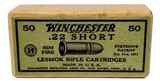 "Collectible Ammo: Sealed Box Winchester Repeating Arms Co. ""Lesmok"" .22 Short Rimfire Cartridges - 4 of 7"