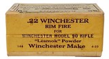 "Collectible Ammo: Sealed Box Winchester Repeating Arms Co. Model 90 ""Lesmok"" .22 Winchester Rimfire Cartridges - 6 of 7"