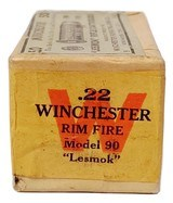 "Collectible Ammo: Sealed Box Winchester Repeating Arms Co. Model 90 ""Lesmok"" .22 Winchester Rimfire Cartridges - 7 of 7"