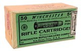 Collectible Ammo: Sealed Box Winchester Repeating Arms Co. .22 Winchester Rim Fire Rifle Cartridges for Model 1890