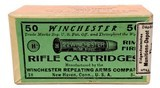 Collectible Ammo: Sealed Box Winchester Repeating Arms Co. .22 Winchester Rim Fire Rifle Cartridges for Model 1890 - 2 of 7