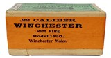 Collectible Ammo: Sealed Box Winchester Repeating Arms Co. .22 Winchester Rim Fire Rifle Cartridges for Model 1890 - 7 of 7