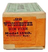 Collectible Ammo: Sealed Box Winchester Repeating Arms Co. .22 Winchester Rim Fire Rifle Cartridges for Model 1890 - 6 of 7