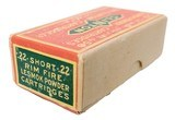 Collectible Ammo: Sealed Box of The Clinton Cartridge Co. Lesmok Powder Cartridges .22 Short Rim Fire - 50 Cartridges - 2 of 8