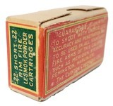 Collectible Ammo: Sealed Box of The Clinton Cartridge Co. Lesmok Powder Cartridges .22 Short Rim Fire - 50 Cartridges - 6 of 8