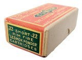 Collectible Ammo: Sealed Box of The Clinton Cartridge Co. Lesmok Powder Cartridges .22 Short Rim Fire - 50 Cartridges - 4 of 8