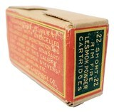 Collectible Ammo: Sealed Box of The Clinton Cartridge Co. Lesmok Powder Cartridges .22 Short Rim Fire - 50 Cartridges - 5 of 8