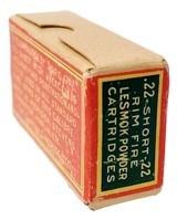 Collectible Ammo: Full Box of The Clinton Cartridge Co. Lesmok Powder Cartridges .22 Short Rim Fire - 50 Cartridges - 4 of 9