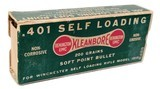 Collectible Ammo: Full Dog Bone Pattern Box of Remington UMC KleanBore .410 SL 200 Grains Soft Point Bullet for Winchester Rifle Model 1910 No. R488 - 1 of 4