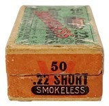 Collectible Ammo: Full Box Winchester Repeating Arms Co. Smokeless Rifle Cartridges .22 Cal Short - 5 of 7