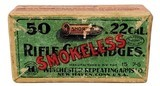 Collectible Ammo: Full Box Winchester Repeating Arms Co. Smokeless Rifle Cartridges .22 Cal Short - 3 of 7