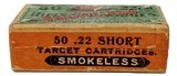 Collectible Ammo: Full Box Winchester Repeating Arms Co. Smokeless Rifle Cartridges .22 Cal Short - 2 of 7