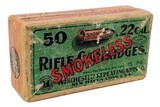 Collectible Ammo: Full Box Winchester Repeating Arms Co. Smokeless Rifle Cartridges .22 Cal Short - 1 of 7