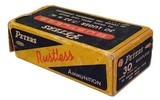 Collectible Ammo: Full Box Peters Rustless 30 Luger (7.65 m m.) 93 grain Metal Case Bullet Rustless No. 3052 - 2 of 7