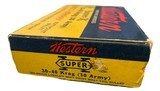 Collectible Ammo: Full Box 20 Rounds of Western Super X .30-40 Krag 30 Army 220 Gn Lubaloy Soft Point Boat Tail #K1438C - 3 of 9