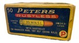 Collectible Ammo: Full Box 50 Rounds of Peters .351 Win SL For Winchester 1907 Self Loading Rifle - 6 of 8