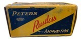 Collectible Ammo: Full Box 50 Rounds of Peters .351 Win SL For Winchester 1907 Self Loading Rifle - 4 of 8