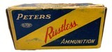 Collectible Ammo: Full Box 50 Rounds of Peters .351 Win SL For Winchester 1907 Self Loading Rifle - 2 of 8