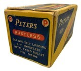 Collectible Ammo: Full Box 50 Rounds of Peters .351 Win SL For Winchester 1907 Self Loading Rifle - 3 of 8