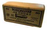 Collectible Ammo: SEALED Box 50 Rounds of Winchester .22 Short Rimfire Lesmok K2254R - 1 of 7