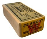 Collectible Ammo: SEALED Box 50 Rounds of Winchester .22 Short Rimfire Lesmok K2254R - 5 of 7