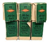 Collectible Ammo:Three Full Boxes of Western .30 Cal Government 1906 (.30-06) 180 GR Open Point Expanding Metal Patched Winchester Model 1903 - 3 of 9