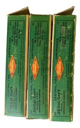 Collectible Ammo:Three Full Boxes of Western .30 Cal Government 1906 (.30-06) 180 GR Open Point Expanding Metal Patched Winchester Model 1903 - 2 of 9