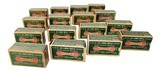 collectible ammo lot of 16: full box remington kleanbore .22 long rifle lubricated bullets r17l dogbone boxes