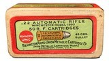 Collectible Ammo: Sealed Box .22 Automatic Rifle Winchester Model 1903 45 Grain Box of 50 Remington #31 - 1 of 6