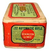 Collectible Ammo: Sealed Box .22 Automatic Rifle Winchester Model 1903 45 Grain Box of 50 Remington #31 - 6 of 6
