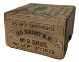 Collectible Ammo: Full Box 25 Cartridges American Metallic Cartridge Co .38 Short Rimfire 2 Shot (#9) Cartridges Pat. Sept 9th 1879 - 5 of 8