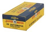 Collectible Ammo: Full Box Western Super Match 45 Automatic 210 Grain Lead Clean Cutting Bullet 45 AMRP Bullseye Box - 2 of 8