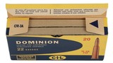 Collectible Ammo: Full Box 20 Rounds Dominion 22 Savage 70 GR. PSP (22 High Power) - 8 of 11