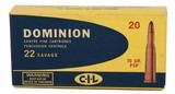 Collectible Ammo: Full Box 20 Rounds Dominion 22 Savage 70 GR. PSP (22 High Power) - 2 of 11