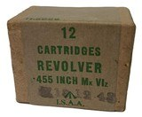 Collectible Ammo: Full Sealed Box of I.S.A.A. .455 Inch MK VIz Stamped 1948